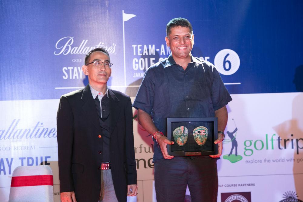 Aditya Gupta Overall Individual Winner Ballantines team am golf challenge 6 Jakarta